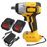 Original              19800mAh 288VF 630N.m 1/2″ Brushless Cordless Electric Impact Wrench W/ 2 Batteries