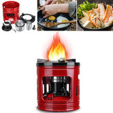 Portable Cooking Stove Outdoor Pocket 8 Wicks Kerosine Fornuisbrander voor Camping Heaters Equipment