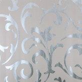 Kiváló minőségű viktoriánus damaszt nemszőtt textúra tapéta anyaga ezüstszürke