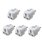 5個トラベルユニバーサル電源コンセントアダプターUKUS EUAUからEUへのプラグ変換プラグソケットコンバーターコネクタ
