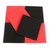 6 Adet 30x30x2.5 cm Akustik Ses Yalıtım Ses Emici Gürültü Köpük Fayans Siyah & Kırmızı