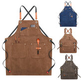 Canvas Woodworking Apron Shop Apron Kantong Lilin Kain Tahan Air Apron Chef Alat Penyimpanan