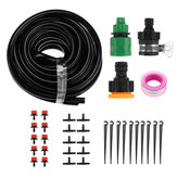8 Holes Misting Irrigation System Kit Tubing Hose Dripper 5/10/15/18/20/25/50M