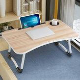 Table pliante pour ordinateur portable avec trou pour fente Table pour ordinateur portable Dortoir étudiant pour canapé de chevet bureau d'étude