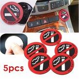 5pcs di ufficio adesivo in gomma auto adesivo di avvertenza logo segno non fumatori