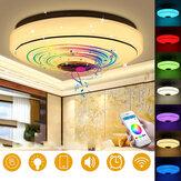 Dimbaar RGBW LED Muziek Plafondverlichting met Bluetooth Luidspreker Mobiel APP Controle Kleur Veranderende LED Inbouw Plafondlamp LED Down Lichtpunt voor Thuis Slaapkamer Decor Feestverlichting AC220V / 110 ~ 220V