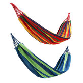 Portable Canvas Hammock Bed Hanging Rope Chair Swing Outdoor Camping Yard Garden