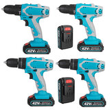 48V Cordless Electric Drill Screwdriver Impact Function Rechargeable Drill Tool W/ 1/2pc Battery