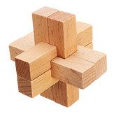 コングミンロックのおもちゃ子供の子供の3Dパズルパズルを組み立てるCubeチャレンジIQの脳の木製のおもちゃ