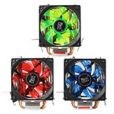 LED Double Heat Pipe Dual Fan Quiet CPU Cooler Cooling Fan Heat Sink For LGA 1155 775 1156 AMD