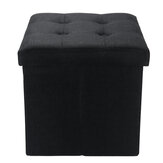 Folding Ottoman Storage Box Pouffe Seat Stool Home Chair Footstool Storage Bench