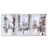 3Pcs City Road Canvas Print Paintings Wall Decorative Print Art Pictures Frameless Wall Hanging Decorations for Home Office