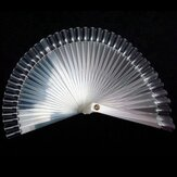 50pcs false 3D nail art Tips stick Display fan board