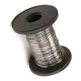 304 Paslanmaz Çelik Tel Uzunluk 30M Parlak Tel Tekli Sert Tel Çap 0.2 / 0.3 / 0.4 / 0.5 / 0.6mm