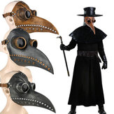 Halloween Medieval Steampunk Plague Doctor Bird Mask Latex Punk Cosplay Masks Long Nose Beak Adult Halloween Event Cosplay Props