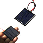 0.25W 5V 45 * 45mm Mini Polysilicon Solar Panel Epoxy papan dengan Kawat