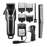 SURKER Electric Cabelo Clipper Trimmer LED Display Steel Blade Lavável Recarregável 110V 240V
