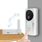 Smart Home Video Dooebell WiFi 1080P 160 ° IR Bezprzewodowy dzwonek do drzwi Night Vision z czujnikiem ruchu
