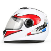 BYB Motorcycle Full Face Helmet HD Anti-fog Lens Breathable Unisex Universal With Neck Protection