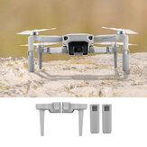 Protector de soporte de patín de tren de aterrizaje extendido con juego de cuchillas de hélice para DJI Mavic Mini / Mini 2 RC Drone