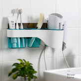 Hair Dryer Holder Storage Box Hands Free Shelf for Bathroom Organizer Storage Rack Bathroom Accessories Set Home