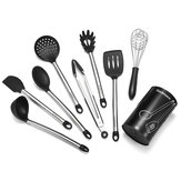 9Pcs/Set Stainless Steel Kitchen Utensils Cooking Non-Stick Baking Tool Silicone Set Kitchen Storage Container