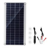 20W portátil Solar Kit de panel DC USB Carga doble puerto USB Ventosas cámping Viajando
