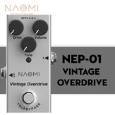 NAOMI Guitar Effect Pedal Vintage Overdrive/Volume/Tone Knob Effect Pedal Mini Single Type DC 9V True Bypass