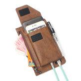 6.3インチのバッテリーチャージャー電話バッグ二層ビンテージPUレザーウエストバッグ男性用