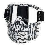 мотоцикл Велоспорт Лыжная маска + защитные очки Съемный ветрозащитный для открытого шлема половины лица
