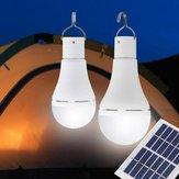 Panel 9W Solar USB recargable cámping Luz 25 COB LED Bombilla Lámpara para al aire libre Emergencia