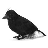 1 peça de Halloween Black Crows Birds Decor Artificial Realistic Woodland Hlloween Decorations for Garden Home