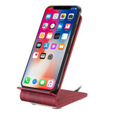 Bakeey Qi Wooden Wireless Charger Desktop Holder For iPhone X 8 8Plus Samsung S8 S7 Edge Note 8