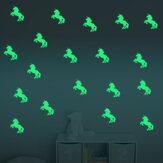 Honana DX-126 10PCS 7X10CM Fluorescente Glow Unicorn Wall Sticker Decor Home Bedroom