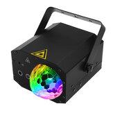 Mini bola mágica Laser luz do partido som Active lâmpada estroboscópica com remoto para KTV festa DJ aniversário