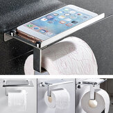 Stainless Steel Bathroom Toilet Paper Twin Holder Phone Tissue Roll Wall Mounted