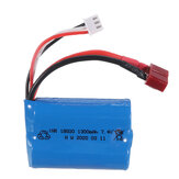 HBX M16120 M16120T 7.4V 1300mAh 15C 2S Li-ion Battery JSB/T Plug for 16889 Brushed Brushless RC Car Vehicles