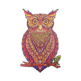 A3/A4/A5 Wooden 3D Owl Pattern Puzzle Colorful Mysterious Charming Early Education Puzzle Art Toys Gifts for Childrens Adults