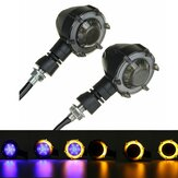2Pcs Water Flowing Motorcycle LED Turn Signal Blinker Light Flasher Lamp Accessories