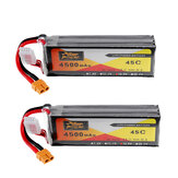 2 Stks ZOP Power 14.8 V 4500 mAh 4S 45C Lipo Batterij XT60 Plug Voor RC Auto Boot Quadcopter