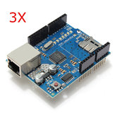 3Pcs Ethernet Shield Module W5100 Micro SD Card Slot For UNO MEGA 2560 Geekcreit for Arduino - products that work with official Arduino boards