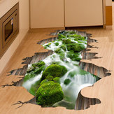 3D Stream Floor Decor Wall Sticker Afneembare Muurschilderingen Vinyl Art Home Decoration