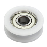 30x8mm U Ball Bearing Guide Pulley POM Embedded 608 Groove