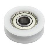 A polia POM do guia do rolamento de esferas de 30x8mm U encaixou o sulco 608