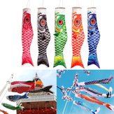 100cm Koi Nobori Carp Vindstød Koinobori Fish Kite Flag Hanging Decor