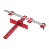 Red Aluminum Alloy Metric/Inch Cabinet Hardware Jig 4mm 5mm Drill Guide Cabinet Handle Template Jig