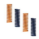 Juego de 12 piezas de resorte de nivelación de cama plana azul / amarillo de 8x25 mm / resorte de extrusión para impresora 3D