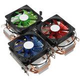 9cm LED Refroidisseur de refroidissement du ventilateur de refroidissement CPU 3 broches pour Intel LAG / 1155/1156 AMD 754 / AM2 / AM2 + AM3 / FM1