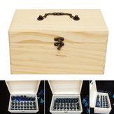 32 Grids Wooden Bottles Box Pojemnik Organizator Przechowywanie Aromaterapii Olejek eteryczny