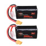 2St. URUAV VTC6 18650 4S 14,8 V 3000 mAh 15 / 30C 4S1P LR Li-Ionen-LionPack Batterie XT60-Stecker für GEPRC Crocodile Baby 4 Crocodile7 FPV-Renndrohne mit großer Reichweite